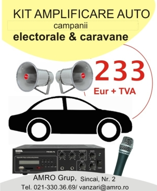 Sistem sonorizare auto campanii electorale
