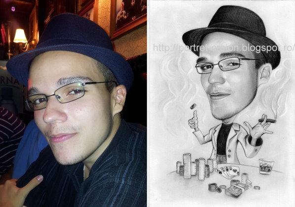 Caricaturi in creion dupa fotografie