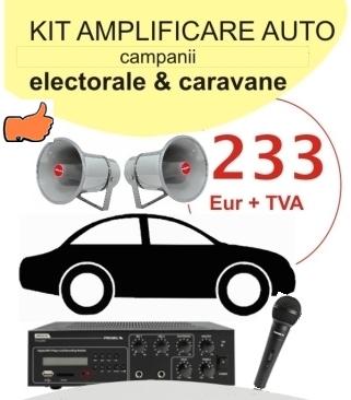 Kit sonorizare auto ptr. campanii electorale si caravane pub