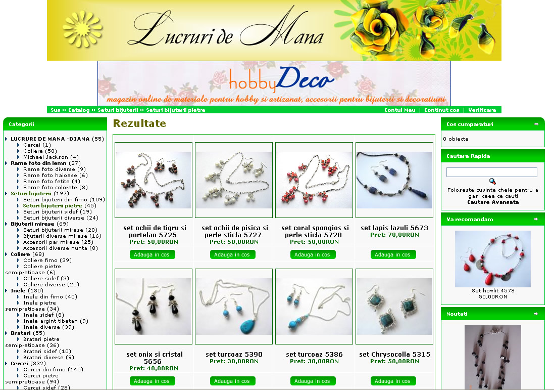 Magazin online de bijuterii handmade