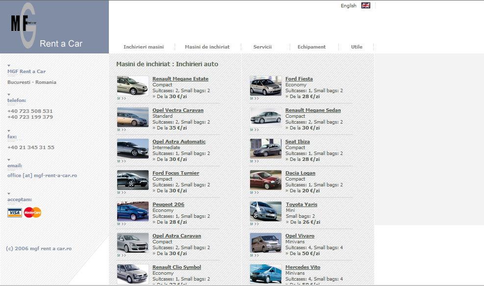 Mgf rent a car inchirieri auto